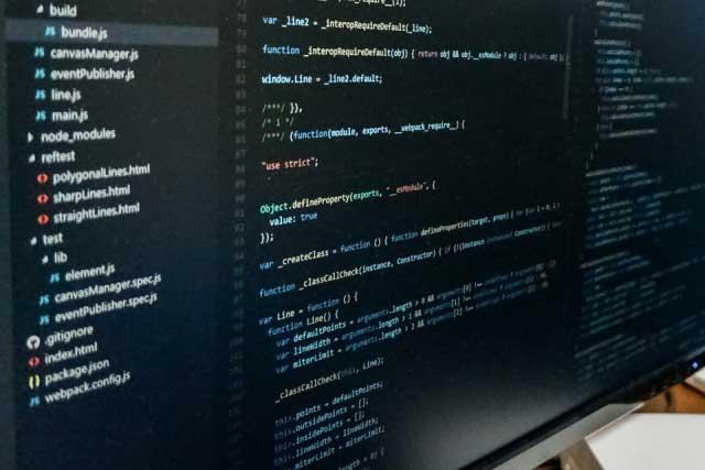 JavaScriptプログラミングPC画面の写真