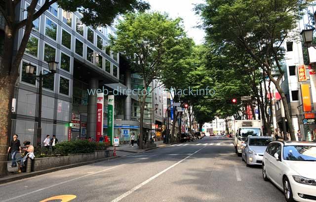 渋谷駅の宮益坂中腹の写真