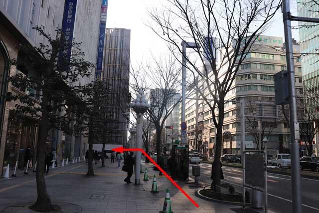 栄交差点からレバテック名古屋支社へのアクセスの写真