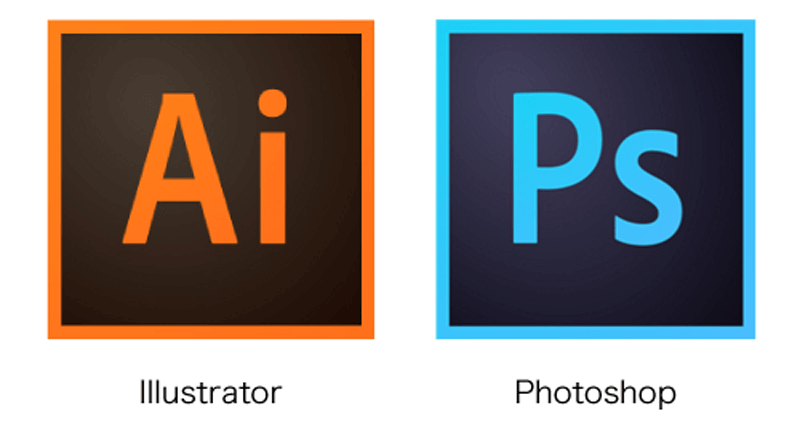 IllustratorとPhotoshopのロゴ画像