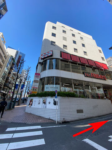 TGIフライデーズ渋谷神南店の外観写真