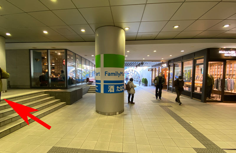 渋谷マークシティ4階を出てすぐの場所の写真