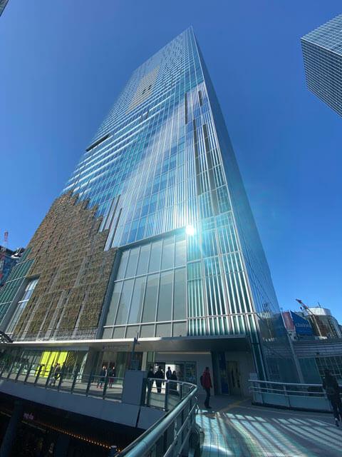 渋谷スクランブルスクエアのビル外観写真