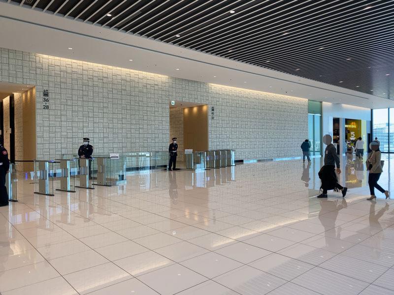 渋谷スクランブルスクエア17階のオフィスロビー写真