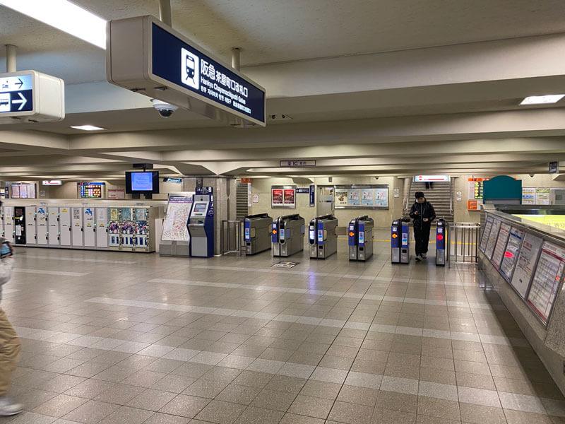 阪急難波駅の茶屋町口改札前の写真