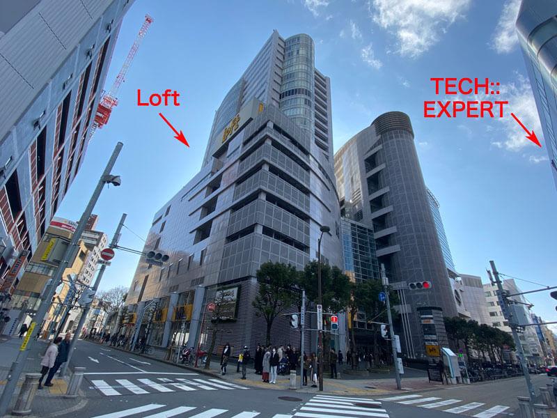 テックエキスパートとロフトの位置関係が解る写真