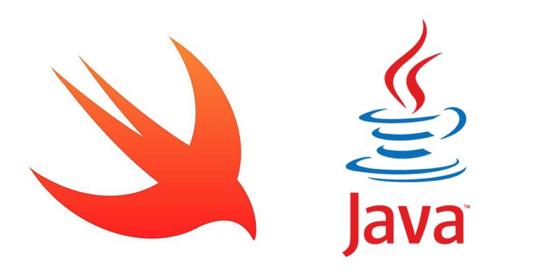 SwiftとJavaのロゴ画像