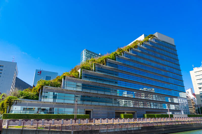 レバテックフリーランスの入るアクロス福岡の外観写真
