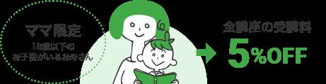 ヒューマンアカデミーのママ割紹介イメージ