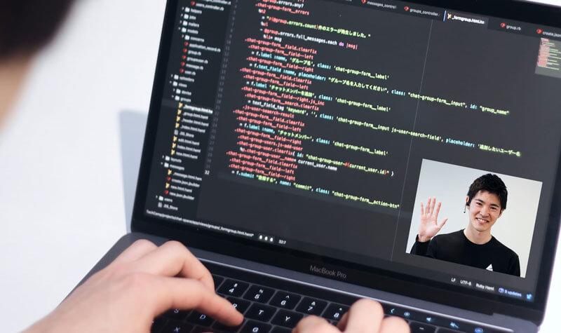 テックキャンプエンジニア転職のオンライン授業の写真
