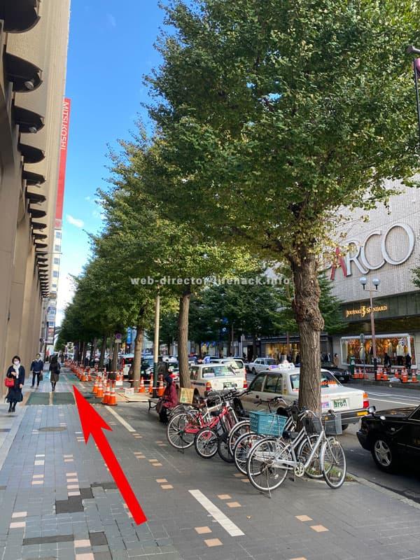 札幌三越とパルコの間の通りの写真